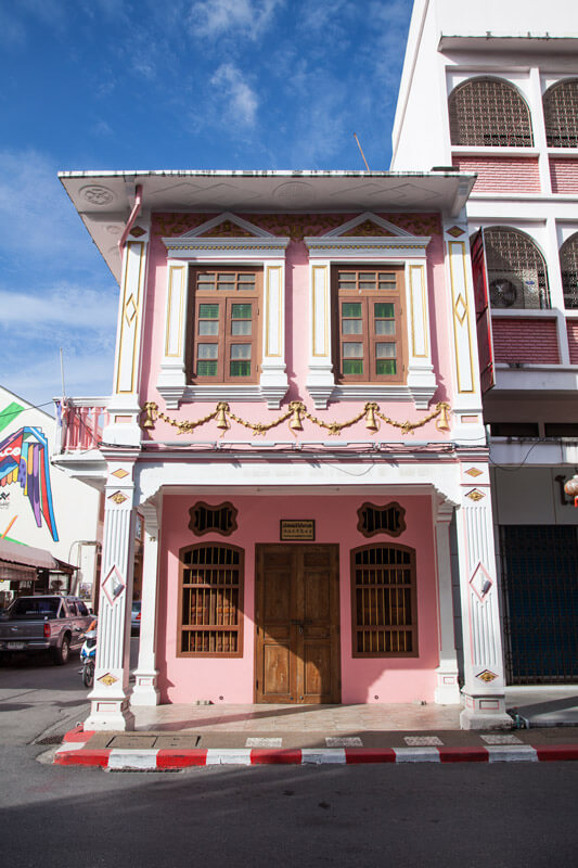 Bunte Häuser in Old Phuket